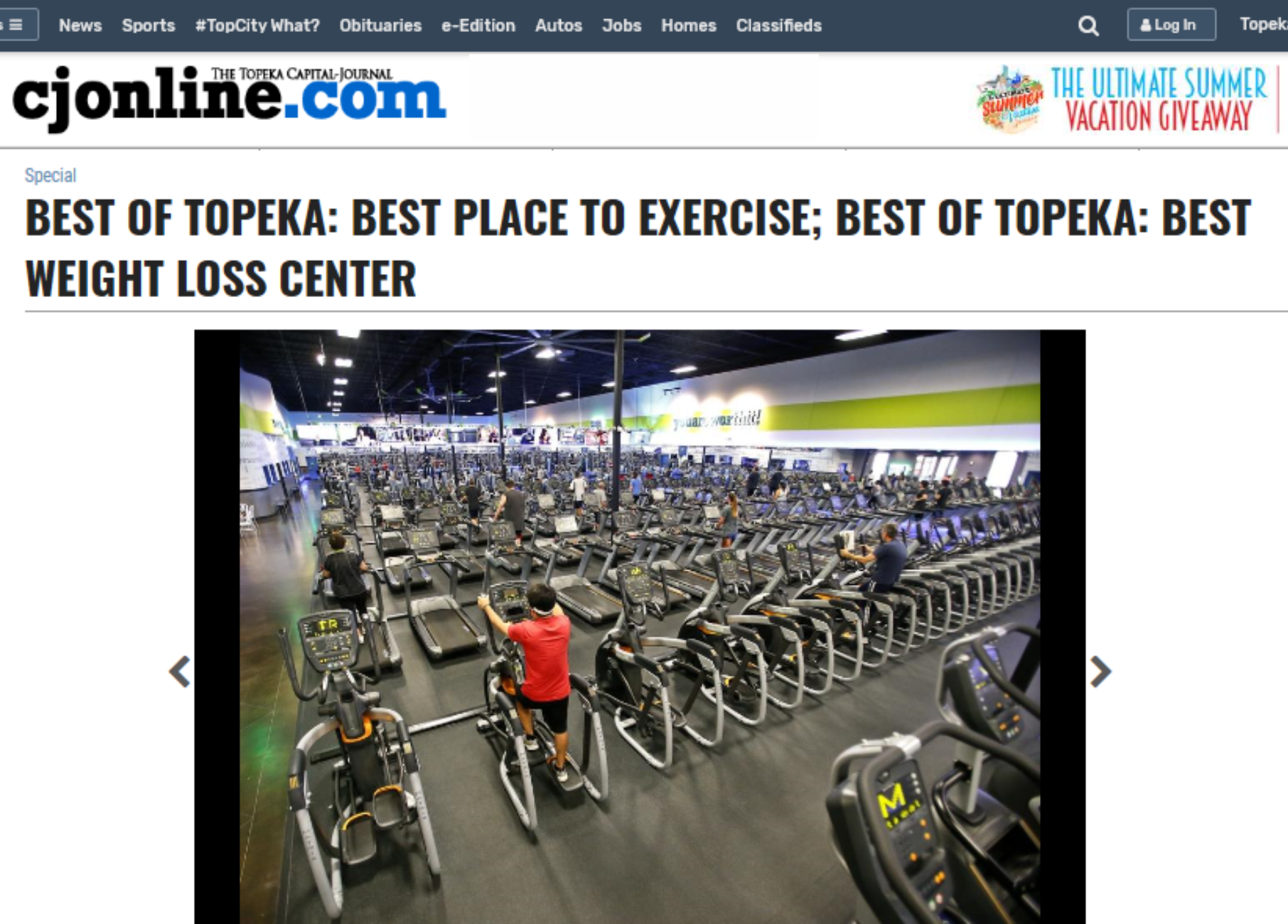 Lowest Price Gym Topeka